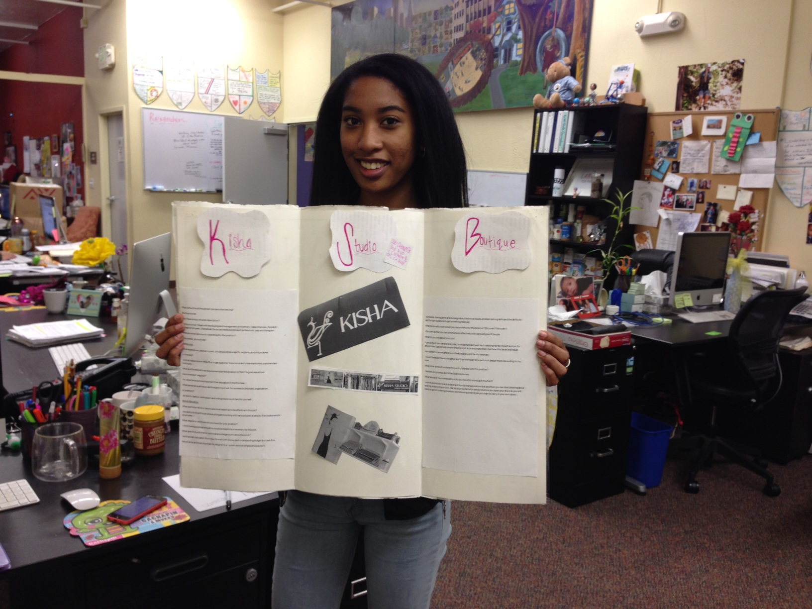 informational interviews sf student work experience program charlie and the poster board that she created for her informational interview presentation